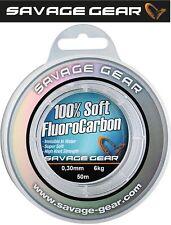 (0,22�'�/1m) Savage Gear Soft Fluorocarbon Schnur 0,30mm 50m 6kg, Vorfach