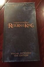 The Lord of the Rings Return of the King Special Extended VHS Edition