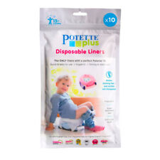 Potette Plus Travel Potty Liners - Disposable Fragranced Biodegradable - 10 Pack