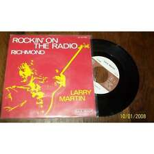 LARRY MARTIN - Rockin' On The Radio Rare French PS 7' Rock Saravah 75'