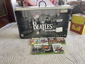 beatles rock band  guitar hero xbox 360 bundle rare great price