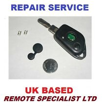 Peugeot 406 2 button Remote Key Fob Repair Service Fix Including New Rubber
