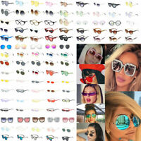Fashion Women Oversize Square Oval Frame Sunglasses Cat Eye Retro Small Glasses.