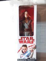 "Star Wars: The Last Jedi Rey (Jedi Training) Figure 12"" Hasbro. New In Box"
