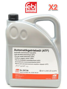 2 X 5 Liter Automatic Transmission Fluid FEBI ATF AMBER/CLEAR