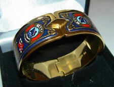 Authentic MICHAELA FREY Ship Ahoy Marine Theme 24K Enamel Royal Clasp Bangle New