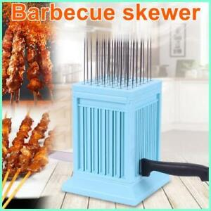 49 Holes Meat Skewer Kebab Maker Box Machine Grill Barbecue BBQ Tools