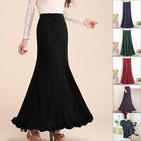 New Ladies Long Maxi Dress Skirt Kint Falbala Women Fishtail Skirt Mermaid Dress