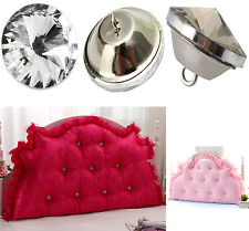DIY Crystal Diamante Rhinestone Round Buttons Upholstery Headboard Sofa Cloth
