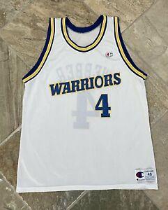 Vintage Golden State Warriors Chris Webber Champion Basketball Jersey, Size 48,