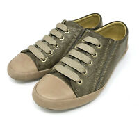 Bussola Women 38 / 7.5 - 8 US Shoes Vaasa Slip On Leather Sneakers Taupe Tan