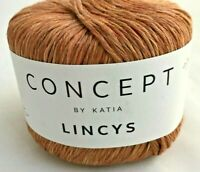 Lot of 5 Concept Katia Lincys Yarn Skeins #310 Autumn Falling Leaves 100% Linen