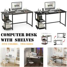 Computer Desk With Shelves Reversible Laptop Gaming Table Home Office Workstation