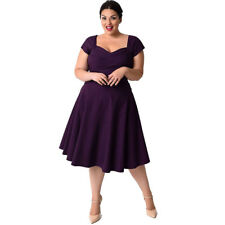 Plus Size Women's Casual Short Sleeve Formal Cocktail Evening Party Swing Dress