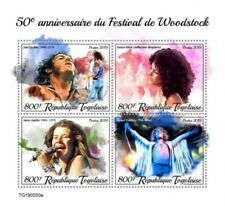 Togo - 2019 Woodstock Music Festival - 4 Stamp Sheet - TG190550a