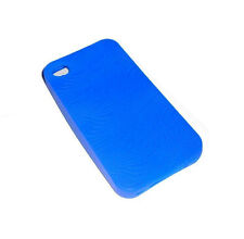NEW BLUE SWIRL SILICONE RUBBER GEL APPLE IPHONE 4 4S CASE SUPER FAST SHIPPING
