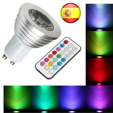 Bombilla LED GU10 RGB CON MANDO A DISTANCIA LED DE 4W 16 COLORES LAMPARA COLOR