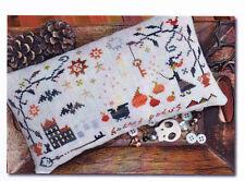 Hocus Pocus - Halloween folk art style cross stitch chart- Barbara Ana Designs