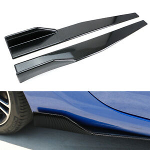 Extra Long Left/Right Carbon PP Universal Rear Side Skirt Winglets Diffusers
