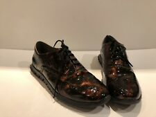 Womens Cole Haan ZeroGrand Wingtip Shoes Tortoise Shell Patent Leather Size 5.5