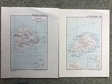 1950s Maps of St Helena and Ascension Island of Directorate of Colonial Surveys