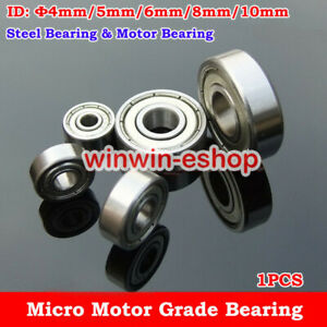 NMB Steel Φ4/5/6/8/10mm Bearing Motor Grade Bearing  Bearing Toy Model Car Robot
