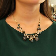 Necklace Woman Stone Plant Agate Natural Green Rhinestone Super Lovely Gift FUN