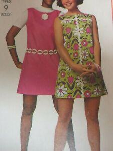 Vintage 60's Simplicity 8631 SIMPLE JUMPER DRESS MOD RETRO Sewing Pattern Women