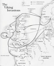 A4 Poster – Viking Map of the Invasion of Britain (Picture Print Art Thor Odin)