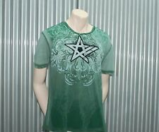 Ve'cel S/S Tattoo Unearthly T-Shirt Green Tee $65 XL NWT