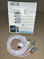 Composite AV Video Cable 30-Pin to Phono+USB for Ipod/Iphone A053