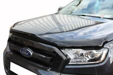 FORD RANGER T6 2016 ON BONNET GUARD PROTECTOR - BLACK - BUG/STONE SHIELD