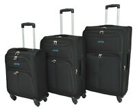 Travel Luggage Suitcase 4 Wheels Spinner Trolley Telescopic Handle Bag Black