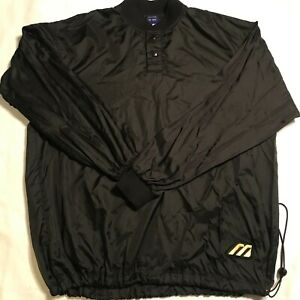 Mizuno Baseball Warm-up Pullover Jacket Men's M Windbreaker Snap Full Sleeve