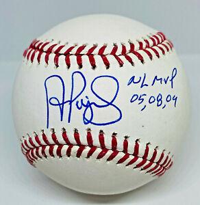 """Albert Pujols """"NL MVP 05, 08, 09"""" Signed MLB Baseball Beckett BAS Witnessed COA"""