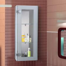 HOMCOM 2 shelves 3-tier Display Cabinet Wall Mounted Cupboard Organizer w/ Door