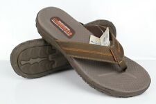 Skechers Men's Relaxed Fit Reggae Cobano Flip Flops Soze 12 Brown 65460