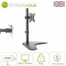 "Dihl SINGOLO Computer Monitor Arm Mount Tavolo Schermo 13-27"" LED TV STAFFA"