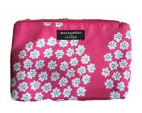 Marimekko Clinique Pink Floral Zippered Make Up Bag Pouch, Pink Interior Lining