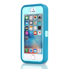 Hybrid Shockproof Hard Tough Armor Case Full Protect Cover FR Apple iPhone SE 5s Blue/light Blue