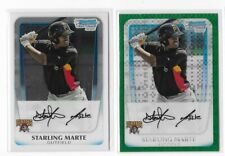 STARLING MARTE 2011 BOWMAN CHROME & GREEN XFRACTOR RC ROOKIE PIRATES BCP178