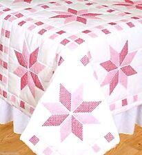 "Jack Dempsey Stamped Cross Stitch kit 18"" Quilt Blocks ~ STAR #732315 Sale"