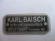 Typenschild Schild Karl Baisch Autokoffer Mercedes 170 180 190 220 300 SL s41