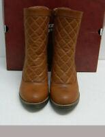 ARIZONA Jean Co. Woman's Ankle Boots Sz 10M Bootie Block High Heel Brown NIB