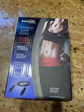 Stayfit+ Cardio Jump Rope Quick 15 Minute Workout Adjustable Length: Up To 10 Fe