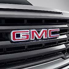 2020 GMC Sierra Front Grille Illuminated Emblem 84741557 Red Genuine OEM GM New
