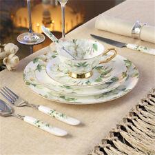 European High Quality Tea Set Cup Teapot Porcelain Dinner Plate Set