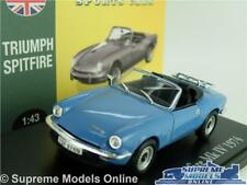TRIUMPH SPITFIRE MK IV MODEL CAR 1:43 SCALE BLUE 1974 ATLAS NOREV MK4 SPORTS K8