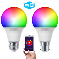 Bombilla de luz LED RGB WIFI inteligente para las aplicaciones de iOS Android Amazon Alexa Google Home