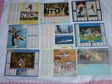LOT DIVERS 9 CALENDRIERS POSTE MULTISPORTS